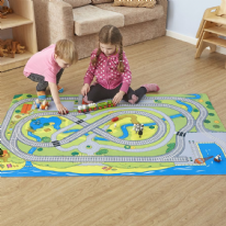 Small World Railway Themed Play Mat